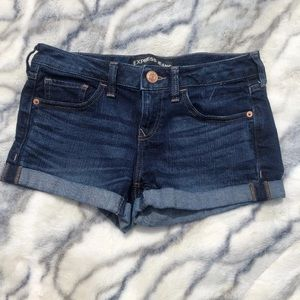 Express shorts distressed size 0